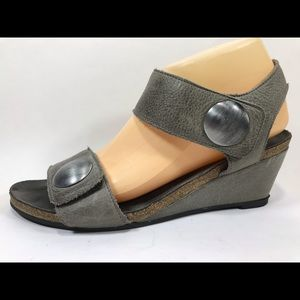 Taos Carousel Leather Ankle Strap Sandals 40